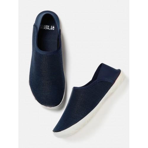 41f81e4d612 Buy Kook N Keech Women Navy Textured Regular Slip-On Sneakers online ...
