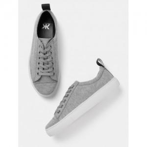Kook N Keech Women Grey Melange Sneakers