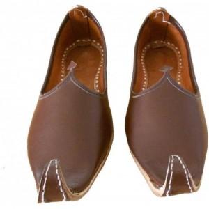 Sunlife Mehta'S Brown Leather Slip On Jutis, Mojaris