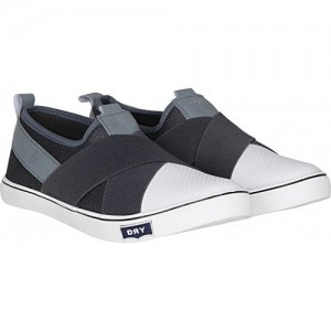 Kraasa Gray Canvas Slip-On Casual Shoes