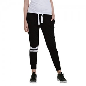 Bewakoof Black Cotton Fleece Joggers Track Pants