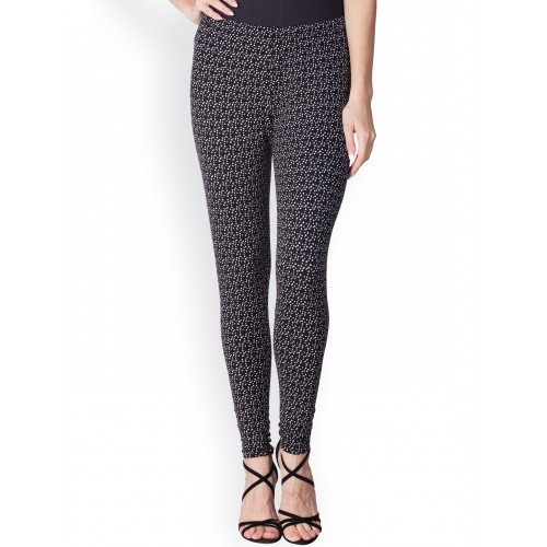 fa36d68a271e1b Buy Lux Lyra Black & White Printed Ankle-Length Leggings online ...