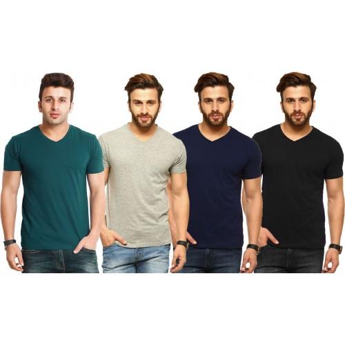 a25dad5b0 Buy Tripr Solid Men s V-neck Green
