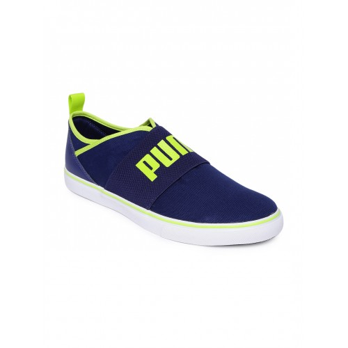 90868f50e0aa36 Buy Puma Blue Slip on Sneakers For Men online