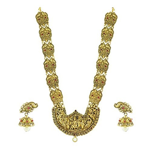 Zaveri Pearls Necklace Set for Women (Antique Golden)(ZPFK4442)