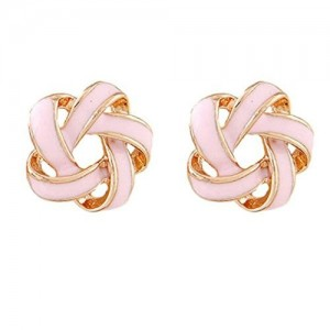 Young & Forever Every Day Essentials Intertwining Color Pops Knotted Stud Earrings daily wear earrings for girls / women