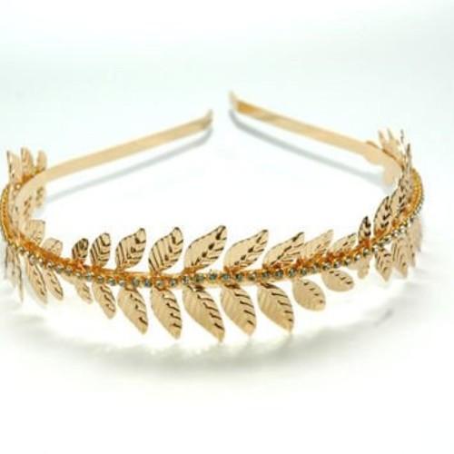 Zelin Fashion Leaf Style Hairband With stone
