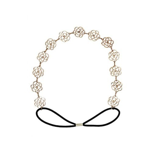 Young & Forever Elite Gold Plated Rose Floral Hair Band Head Band Accessories for Women Girls (HA90125) diwali Gift special