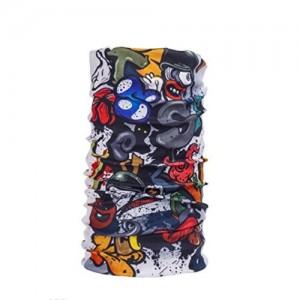 Noise NOIHWP214 13-in-1 Sassy Skull Multifuntional Polyester Bandana, Free Size (White)