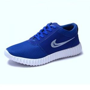 Lamara Blue Canvas Lace Up Sports Shoes