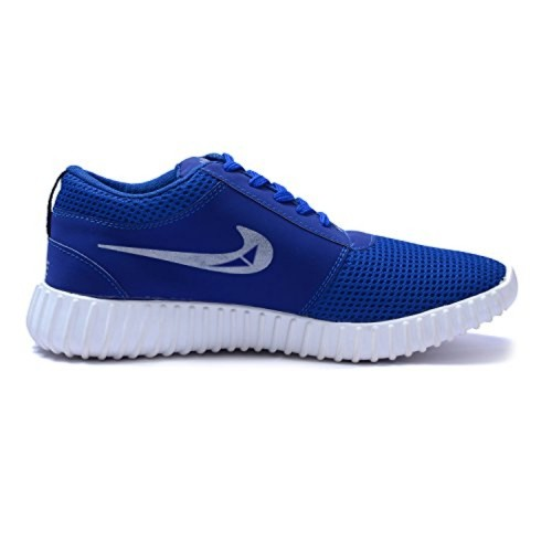 Lamara Blue Canvas Lace Up Sports Shoes