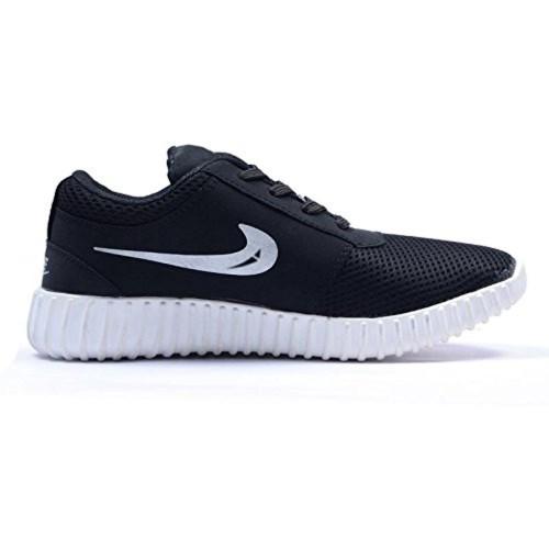The Landlord Men's Black Cotton Lace Up Sport Shoes
