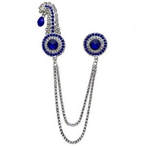 B-Fashionable Double Chain Round Kilangi Brooch