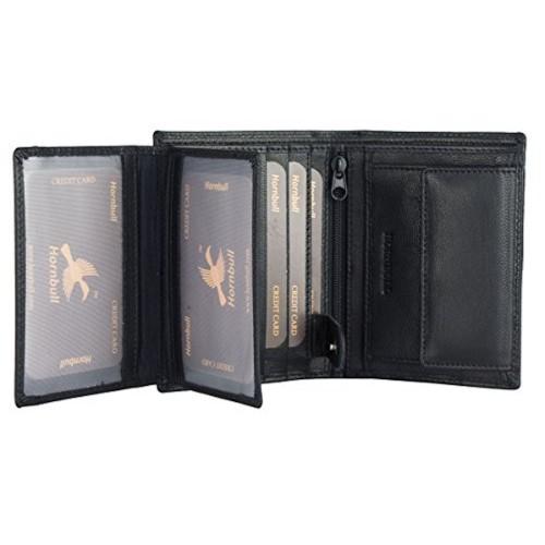 Hornbull Men's Black Leather Wallet