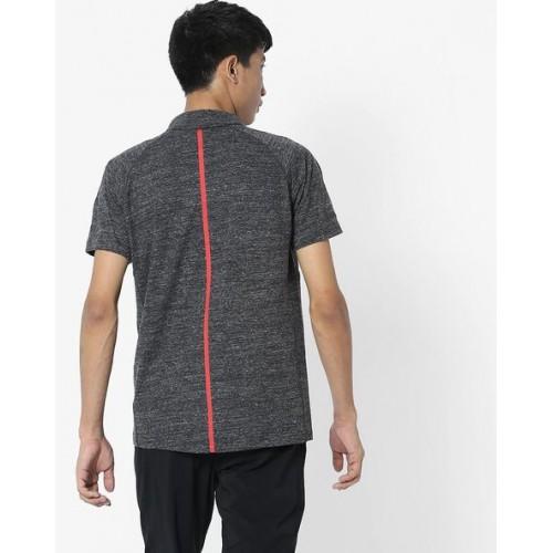 Puma Men Charcoal Solid Ferrari Polo Collar T-shirt
