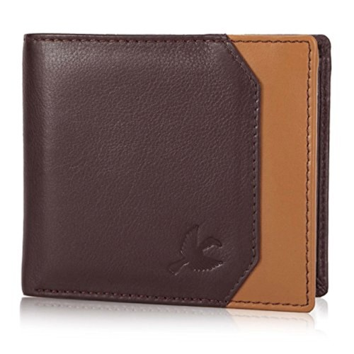 Hornbull Brown Leather Wallet And Belt Combo