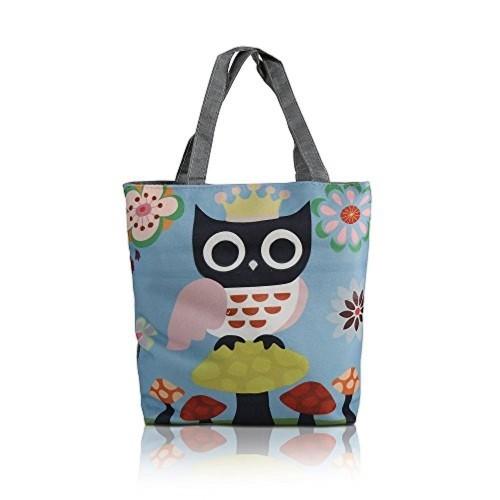 0bbc3b11070c ... Bag  MStick Owl Paris Women s Zipped Fashion Canvas Tote ...