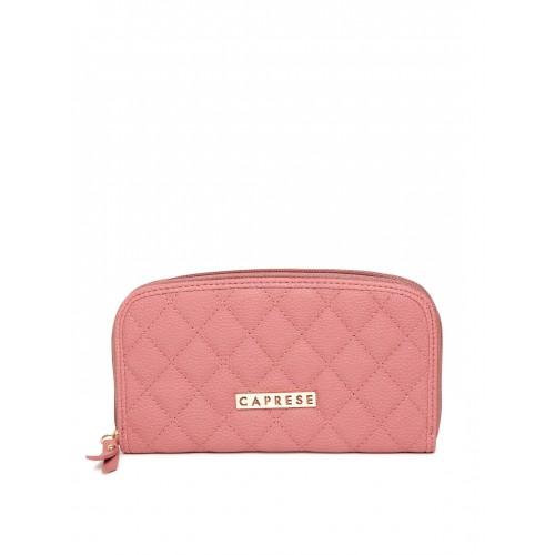 Caprese Women Pink Quilted Zip-Around Wallet