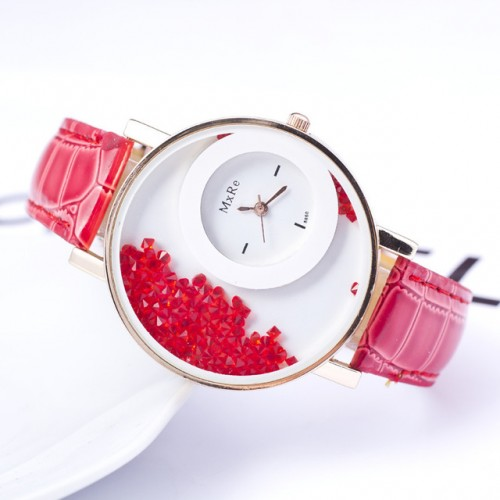 Women Wadding Red Diamond Party Watches