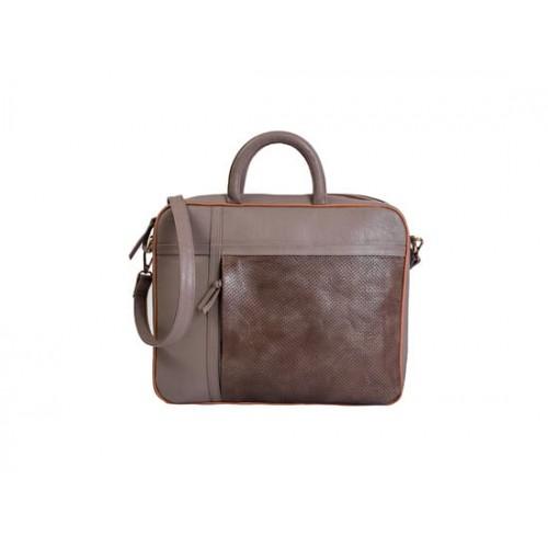 7cb4bd452f5 Buy PAINT Paint Dark Grey genuine leather unisex laptop bag online ...