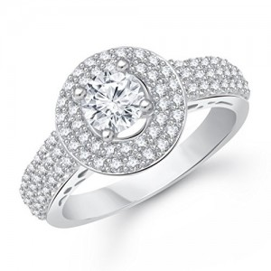 V. K. Jewels Royal Solitaire Rhodium Plated Brass Ring For Girls- Fr1550R [Vkfr1550R]