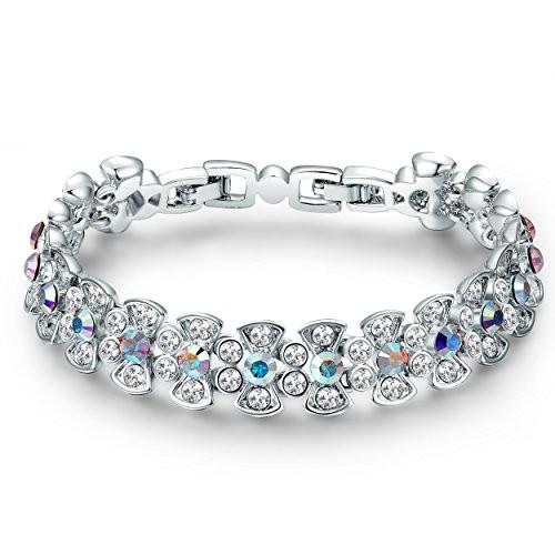 Yellow Chimes Crystals from Swarovski Silver Designer Bracelet