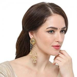 The Luxor Stunning Gold Plated Jhumki Earrings For Women