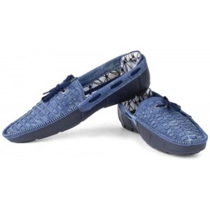 Wonker Blue Synthetic Leather Loafers