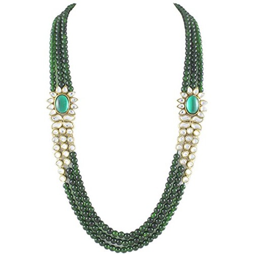 Karatcart Green Gold Plated Kundan Jewellery Set