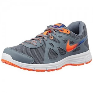 Nike Gray Lace Up Running Shoes