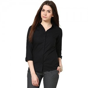 The Gud Look Women's Black Slim Shirt