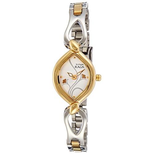 Titan Raga Gold/Silver Metal Jewellery Design Quartz Glass, Analog Wrist Watch