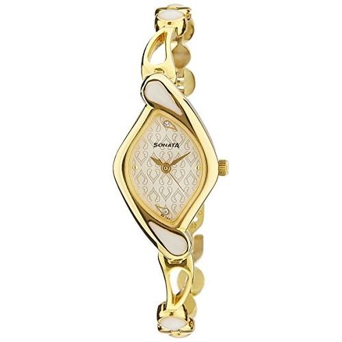 Sonata Sona Sitara Analog White Dial Women's Watch - NF8073YM01