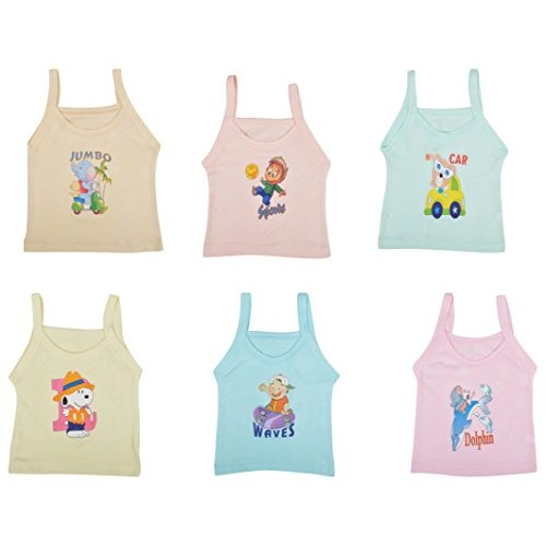 kuchipoo Girls' Regular Fit Cotton Slip (Pack of 6)