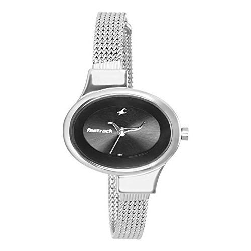 Fastrack Economy Analog Black Dial Women's Watch - NE6015SM02