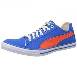 Puma Unisex Blue Canvas Lace Up Sneakers