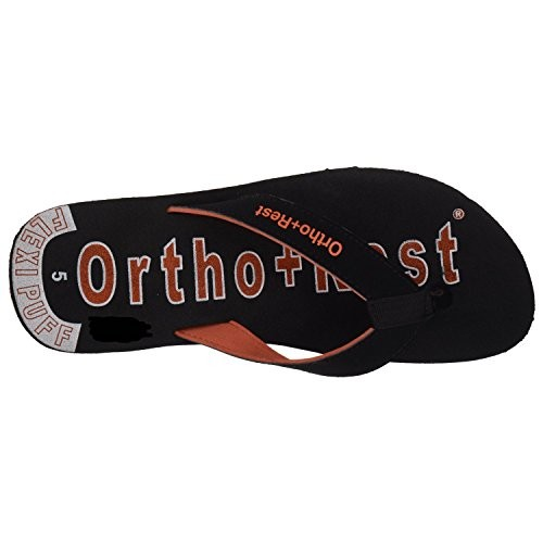 Ortho + Rest Black Rubber Slippers for Women