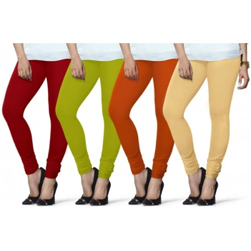 8d5ea55c739ef Buy Lux Lyra Women's Red, Light Green, Orange, Beige Leggings online ...