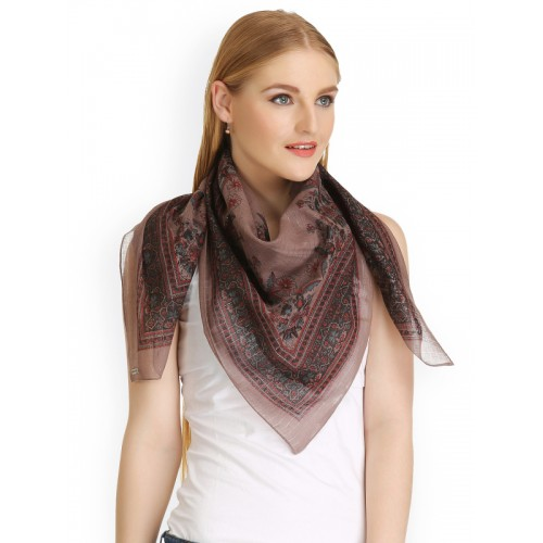 CoolThreads Women Brown Printed Scarf