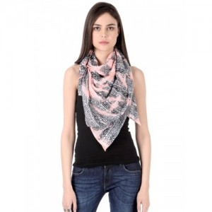 CoolThreads Pink & Black Printed Scarf