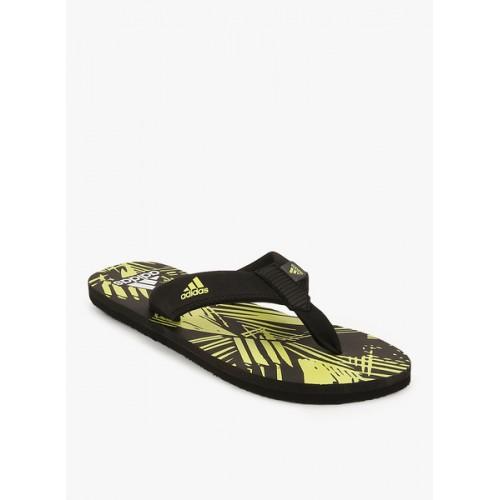 Adidas Inert Black Rubber slip On Slipper