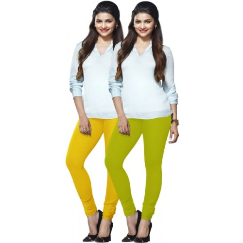d0d2158a4faee1 Buy Lux Lyra Women's Dark Blue, Light Green Leggings online | Looksgud.in