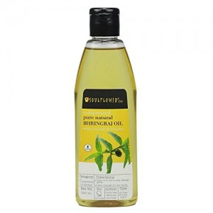 Soulflower pure natural Bhringraj with coconut & sesame Oil, 225 ml
