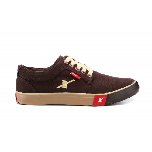 Sparx Brown Canvas Lace Up Sneakers