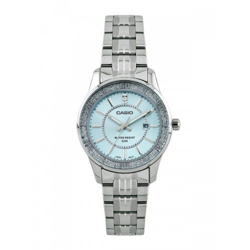 Casio Enticer Women Silver Analogue Watches (A804) LTP-1358D-2AVDF