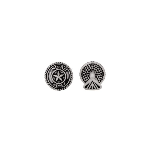 Voylla Indian Army Oxidized Squad Cufflinks