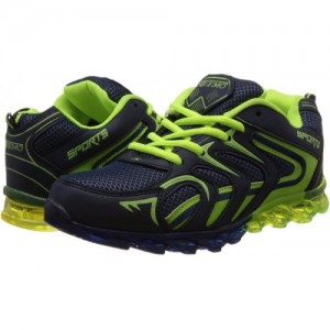 Tapps Blue & Green Mesh Running Shoes