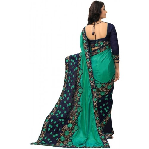 onlinefayda Embroidered Fashion Silk Saree