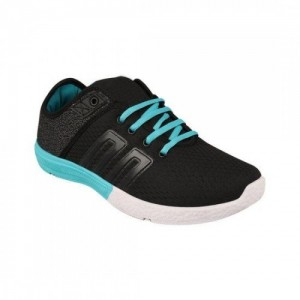 Birde Blue & Black Canvas Casual Shoes for Men