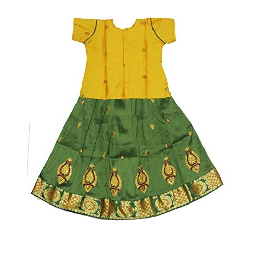 Kanakadara Self Design Girl's Lehenga Choli